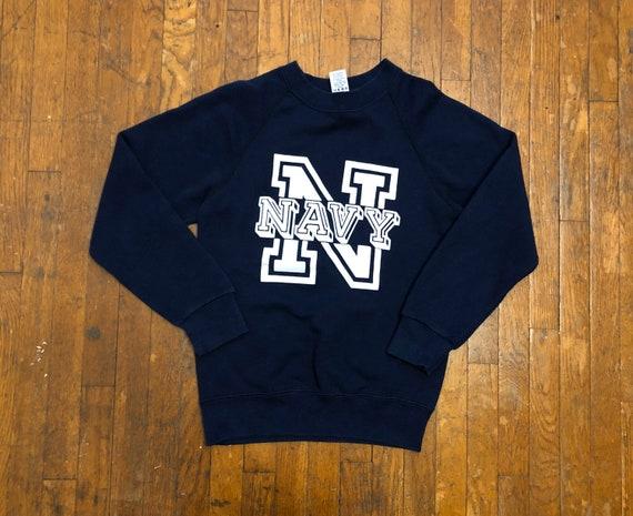 1980s Navy Sweatshirt Vintage  1980s Raglan Sleeve