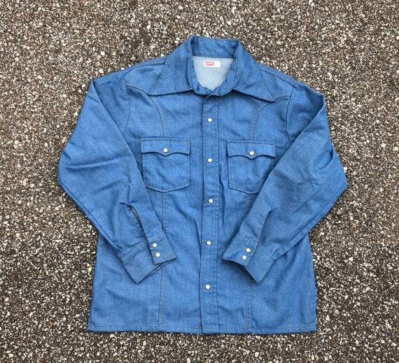 Vintage Levis Denim Shirt Jacket 70s Levis Western
