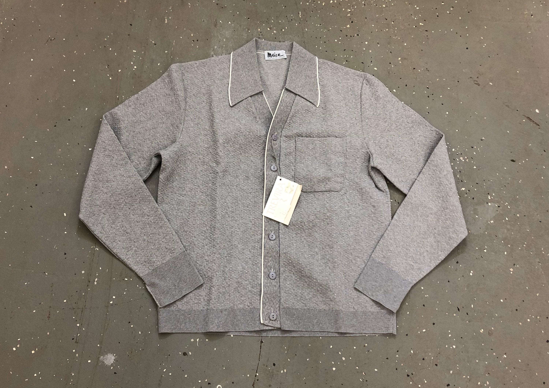 1960s – 70s Men's Ties | Skinny Ties, Slim Ties 60S Deadstock Mod Long-Sleeve Shirt 1960S Grey Textured Mens $20.00 AT vintagedancer.com