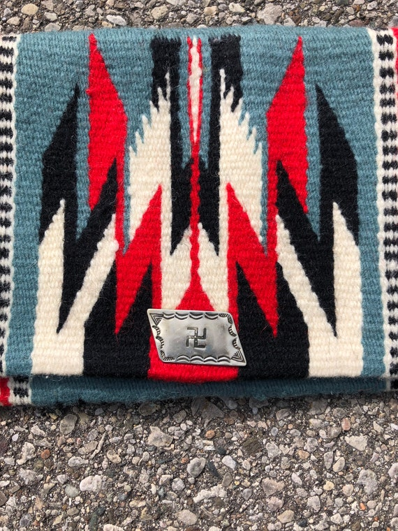 1930s whirling log Chimayo Clutch Purse 30s Nativ… - image 2