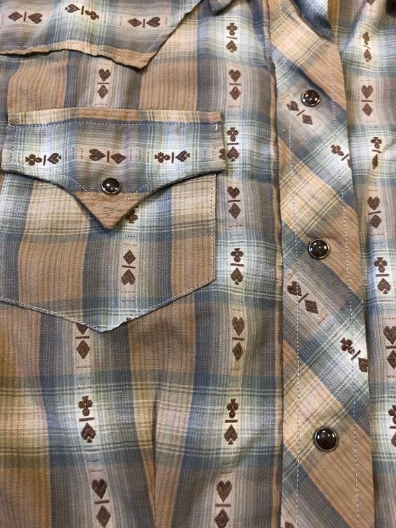 50s Levis Big E Western Wear Shirt 1950s Big E Da… - image 3