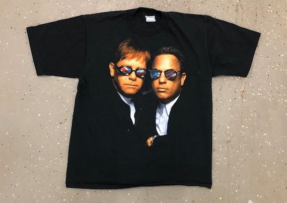 Elton John Billy Joel 90s Vintage Tee 1990s Elton