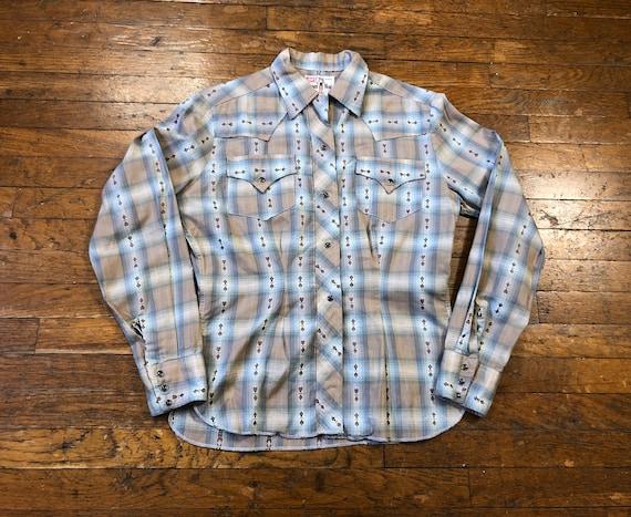 50s Levis Big E Western Wear Shirt 1950s Big E Da… - image 1