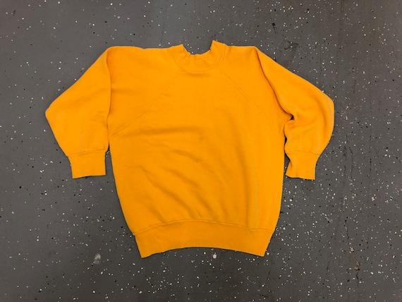 1960s Yellow Sweatshirt 60s Raglan Sleeve sweatshi