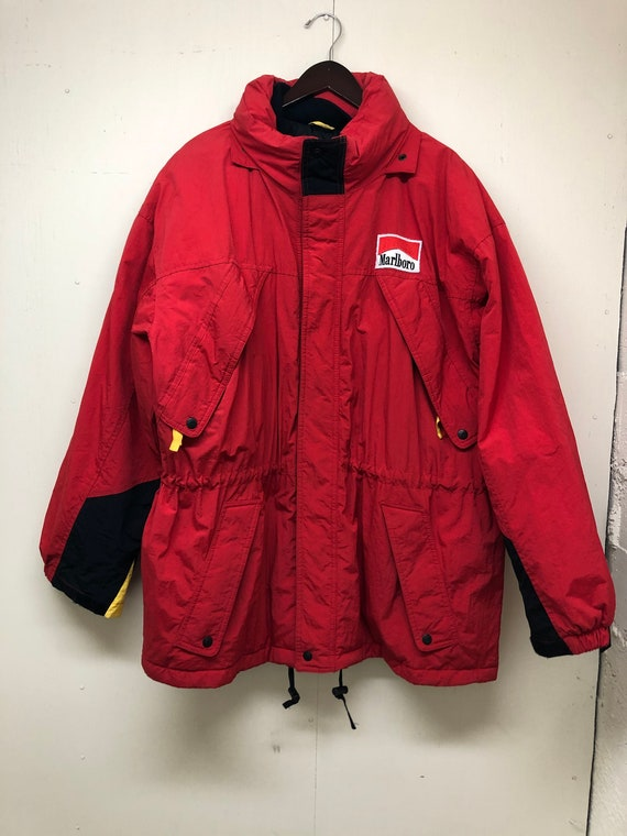Marlboro Parka 90s Marlboro Hooded Coat 1990s  Mar