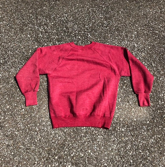 1950s red Sweatshirt 50s 60s Cotton sweatshirt