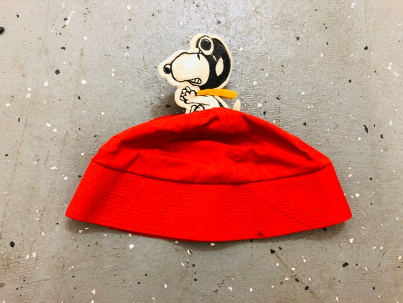 1960s Snoopy Bucket Hat 60s Snoopy Red Baron Hat V