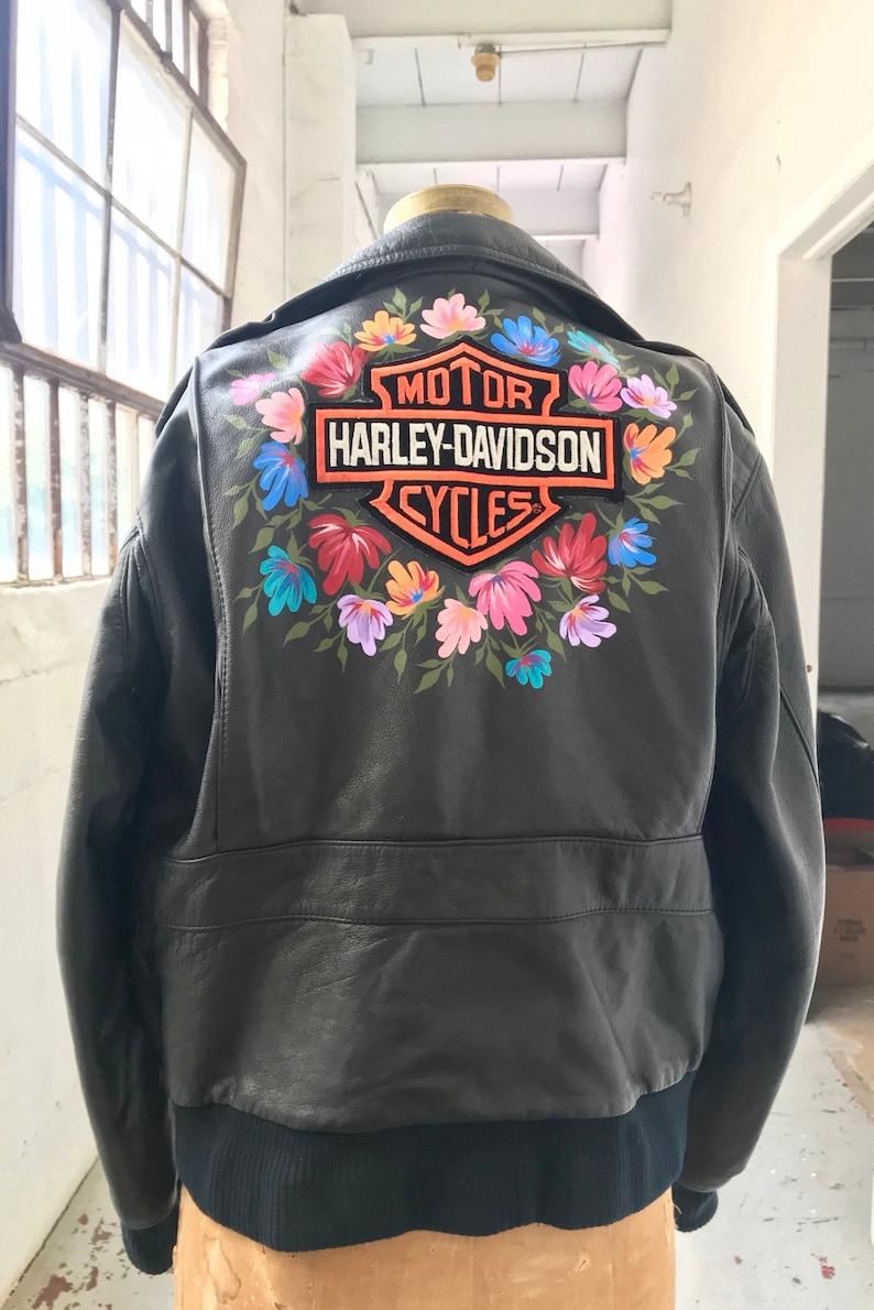 6ab217c11aaf Vintage Harley Davidson Leather Bomber Jacket with