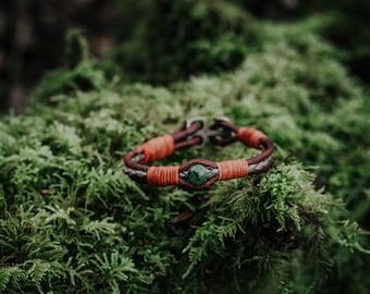 BC Jade - Signature bracelet - Leather bracelet - Luck bracelet - Handmade Gift - Handwoven