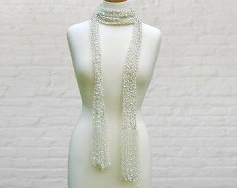 33b799cd0dc Long thin sparkly knit scarf