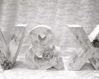 Letters for vintage wedding