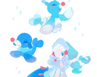 PREORDER  Popplio Evo Line Sticker Set!
