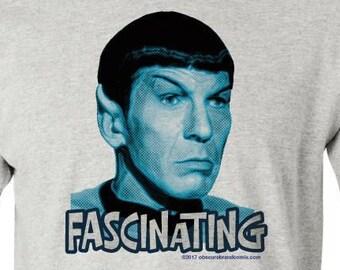 MR. SPOCK - FASCINATING - pre shrunk 100% cotton, short sleeve t-shirt