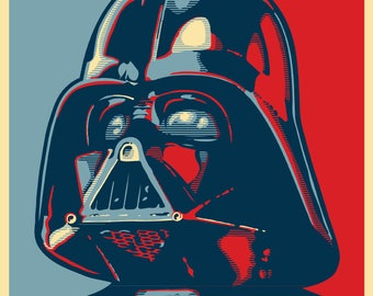 "VADER 2020 ""HOPE"" Style Election Posters - 11""x17"" - Darth Vader - Star Wars"