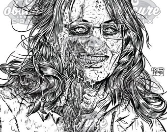 digital zombie coloring page sarah palin you betcha