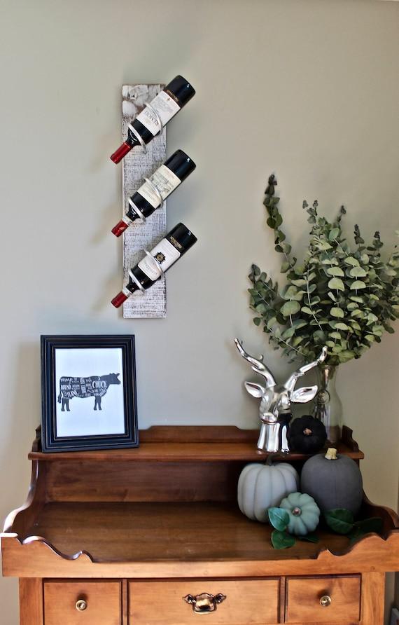 White Wine Rack Wall Mounted Wine Rack Wine Rack Metal Etsy