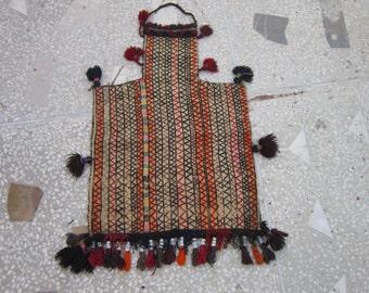 Vintage Afghan Suzani Tribal Salt Bag