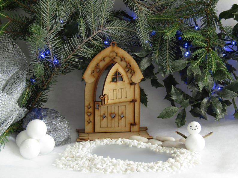 Awe Inspiring Large Freestanding Gingerbread House Fully Opening 3D Wooden Fairy Door Craft Kit With Stable Door Lantern Download Free Architecture Designs Rallybritishbridgeorg