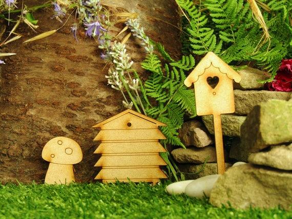 Fairy Door Accessories Twin Pack of Wooden Fairies