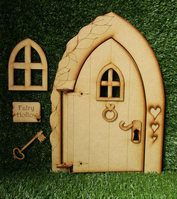 20 BLANK Wooden Shape Fairy Door Handles Knockers Plaque CARD MAKING CRAFT