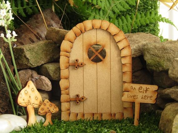 3D Kit Puerta De Hadas corte láser sin Pintar Mdf Faerie Accesorios Elf Craft Decoración