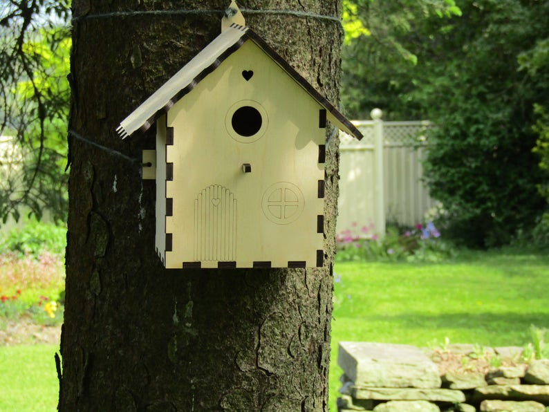 Fairy Garden Birdhouse - Build Your Own Bird Nest Box - Wildlife Craft  Project Kit