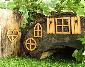 Fairy Window Craft Kit - Fairy Door Accessories for Fairy Gardens, Skirting Board, Log Houses etc