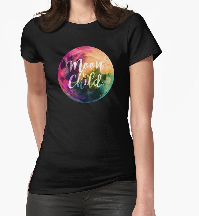 Witchy Enfant LuneUnisexe T Étoiles Shirt Païen Couleur Galaxy Nuit Doux Votre Tee Super Unique Choisir N8OP0Xnkw