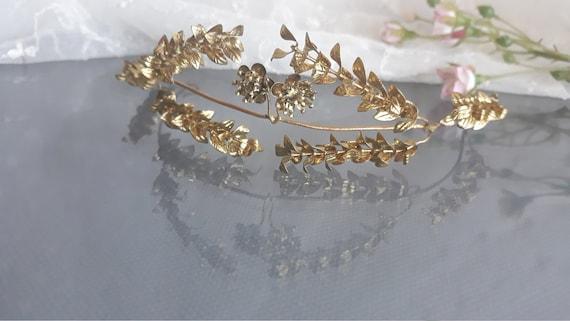 Goldene Myrte Tiara Vintage Deutsche Hochzeit Myrten Krone Gold Haarkranz Antike Goldene Brautkrone Mit Anstecknadel 1930er Jahre Tiara