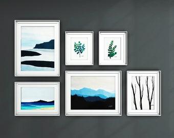 Fine Art Prints, Gallery Wall Print Set, Set of 6 Prints, Gallery Wall Art, Contemporary art, Abstract Paintings, Giclee Print