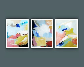 Fine Art Prints, Set of 3 prints, Contemporary art, Abstract Painting,  Modern Art Prints, Giclee Print, Abstract Painting