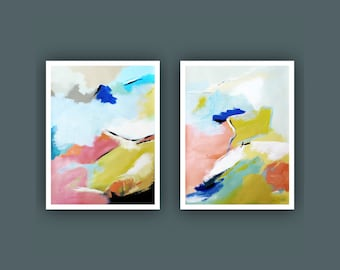 Fine Art Prints, Set of 2 Prints, Contemporary art, Abstract Painting,  Modern Art Prints, Giclee Print, Abstract Prints, Acrylic Painting