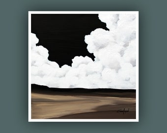 Fine Art Prints, Contemporary art, Square Prints, Abstract Landscape Painting, Cloud Art Prints, Giclee Print, Abstract Painting