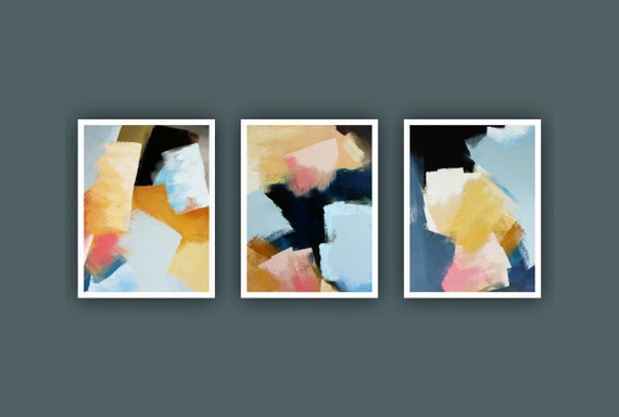Fine Art Prints, Set of 3 prints, Contemporary art, Abstract Painting, Modern...
