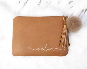 """Personalized Embroidery Macbook Case, 13"""" Laptop Case, 14"""" Laptop Sleeve, 15"""" Case, Personalised Gift, Monogram Laptop Case -All Laptop Size"""
