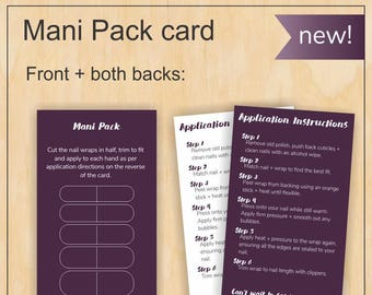 Mani Pack - Jamberry US and Canada size cards - Digital PDF file