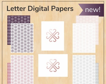 Digital papers bundle - Letter - Jamberry, new logos and colors - Digital PDF file