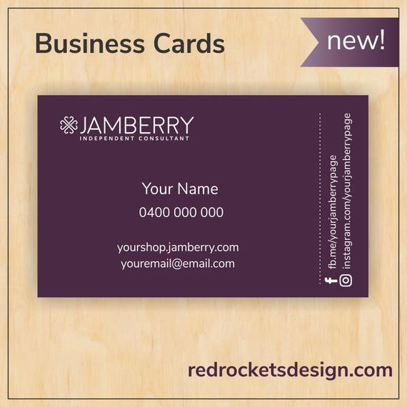 Fig business cards for jamberry consultants digital pdf file reheart Choice Image