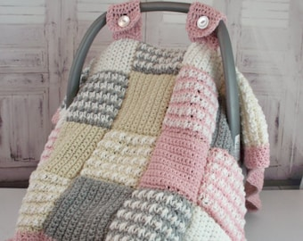 Crochet Pattern Baby Car Seat Cover Canopy Blanket Afghan The Oxford