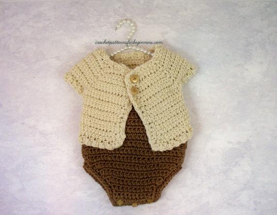 Baby Set Crochet Pattern Baby Sweater Crochet Pattern Baby Etsy
