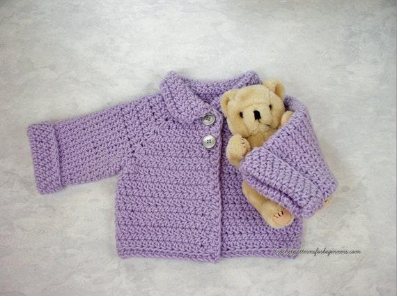 Baby Cardigan Crochet Pattern Baby Sweater Baby Jumper Easy Etsy