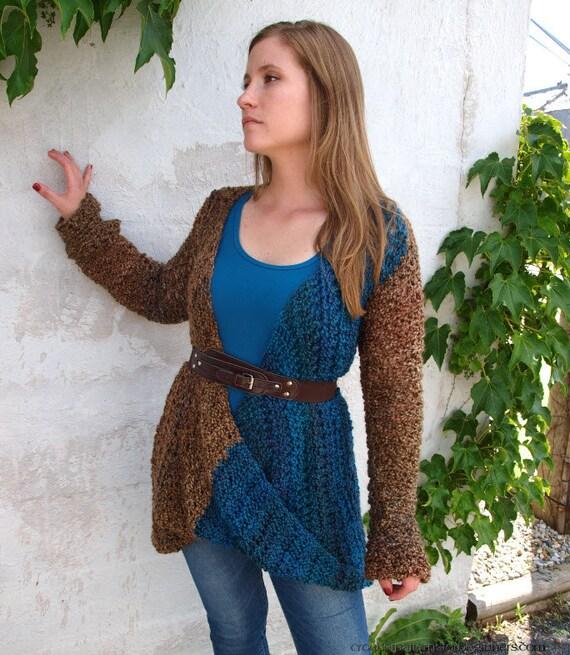 Crochet Pattern Sweater Twist Tunic Crochet Pattern Surplice Etsy