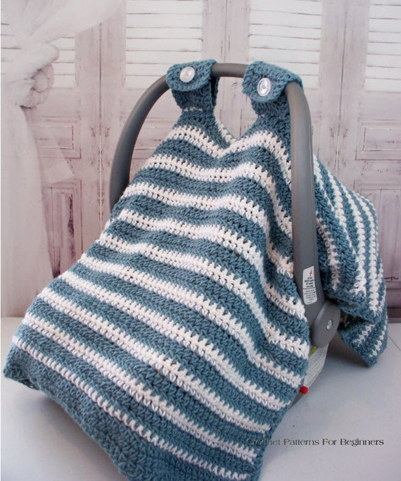 Crochet Pattern Baby Car Seat Cover Baby Crochet Car Seat Etsy