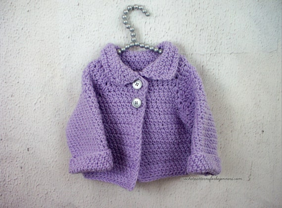 Knitting Pattern Baby Cardigan Baby Sweater Baby Jumper Easy