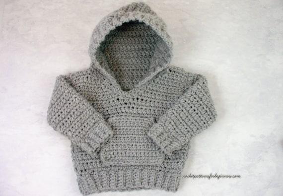 Crochet Pattern Baby Hoodie Baby Sweater Crochet Pattern Baby Etsy