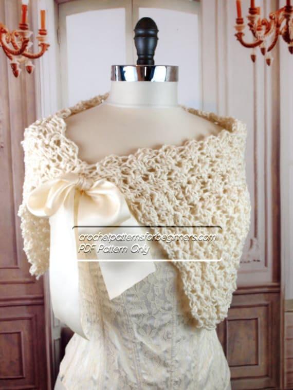 Spring Crochet Wedding Shawl Pattern Easy Crochet Pattern | Etsy