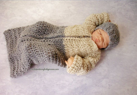Baby Sleeping Bag Crochet Pattern Baby Cocoon Crochet Baby Sleep Sack Crochet Pattern Baby Crochet Pattern Sleeping Bag Bunting Suit