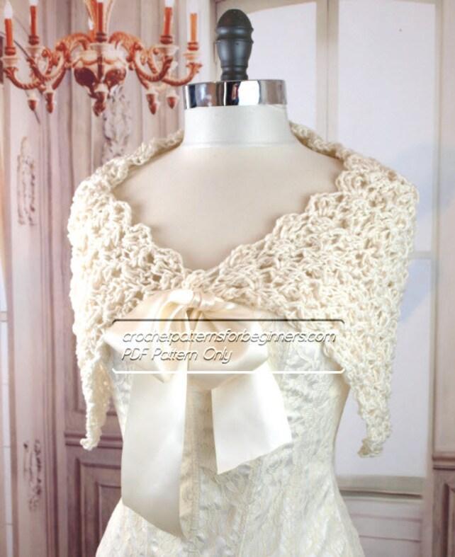 Spring Crochet Wedding Shawl Pattern Easy Crochet Pattern Etsy
