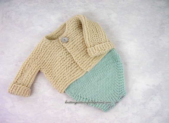 Baby Set Knitting Pattern Baby Cardigan And Romper Set Baby Sweater