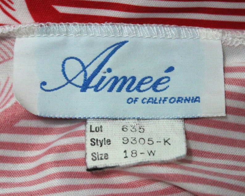 Fourth of July Outfit Women Size 18 2X 3X Vintage 1980s Aimee 80s Red /& White Striped Shirt Plus Size Top Three-Quarter Sleeves